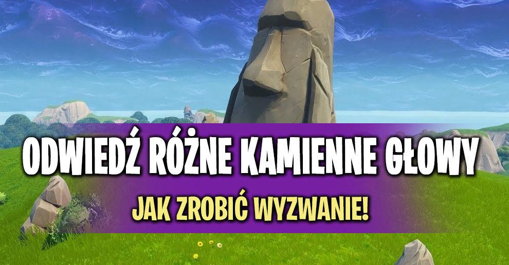 Odwiedź Różne Kamienne Głowy Jak Zrobić Wyzwanie Fortnite Polska
