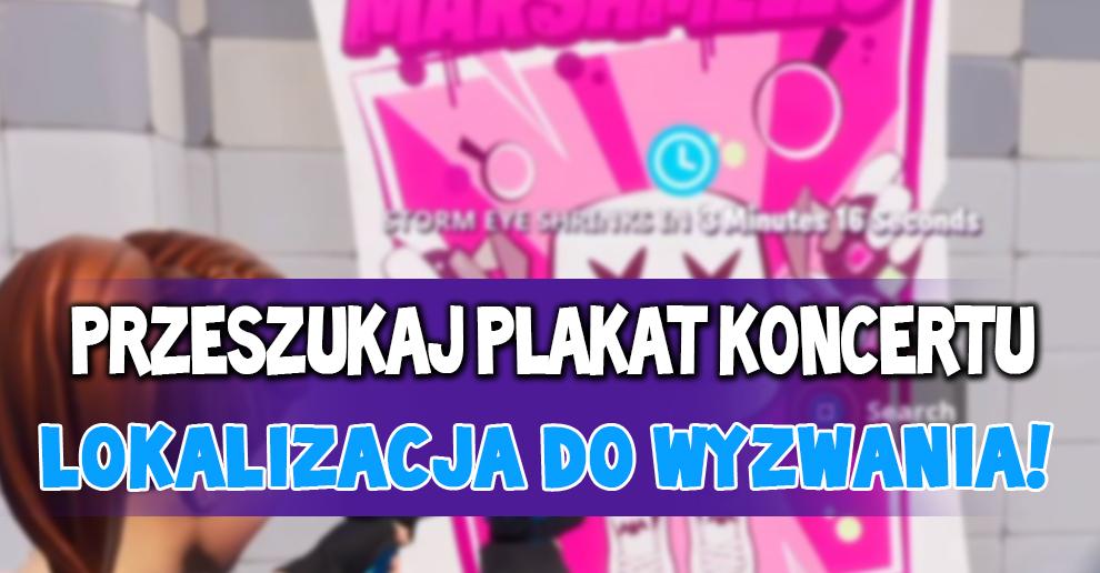 Przeszukaj Plakat Koncertu Jak Zrobić Fortnite Polska